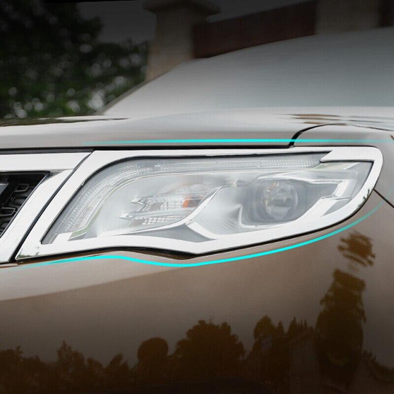 Для Geely Atlas 2016 2018 2017 ABS пластик Chrome интимные аксессуары автомобиля передний свет Фара Налобные фонарики рамки панель Крышка отделка