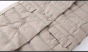 Image 5 - NewBang Brand Womens Long Vest Ultra Light Down Vests Female Sleeveless Windproof Lightweight Warm Long Waistcoat