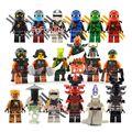 18 pcs decool ninjagoed figura conjuntos de blocos brinquedos compatíveis yang gereral kozu echo zane pythor pedra gigante guerreiro kai