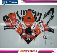 For Honda Motorcycle ABS Fairing Kit CBR1000RR 2008 Orange Repsol 2009 2010 2011 Complete Plastic Bodywork With No.93