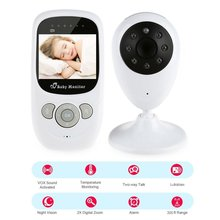 SP880 2.4G Wireless Baby Video Monitor with Night Vision Two-way Talk 2.4 inch LCD Display Temperature Monitoring 2 4 inch color lcd wireless digital baby monitor support two way talk back