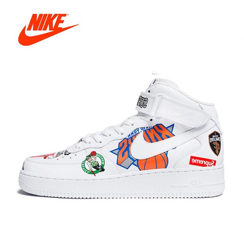 Original Nouvelle Arrivée Authentique Nike Air Force Suprême NBA AF1 Hommes Planche À Roulettes Chaussures Sport En Plein Air Sneakers Bonne Qualité