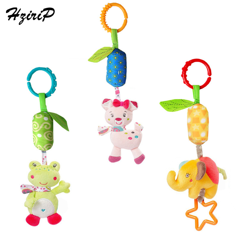 HziriP New Infant Toys Cute Owl Elephant Cat Animal Plush Toy Mobile Baby Stroller Pendant Bed Hanging Rattles Bell Toy Gifts
