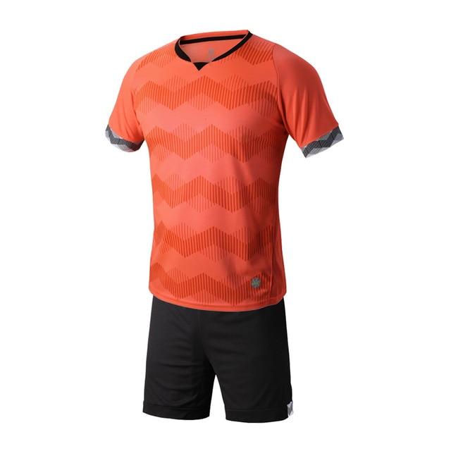 6cfe823d0d44 Orange Boys Kids Training T-shirts children sets football kits soccer team  jersey Sports Athletic wear Running Size XXXS-M A100