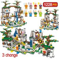 1228Pcs My World Building Blocks Toys For Children Compatible Legoing Minecrafted The Mine Cave Mine Slide Figures Bricks