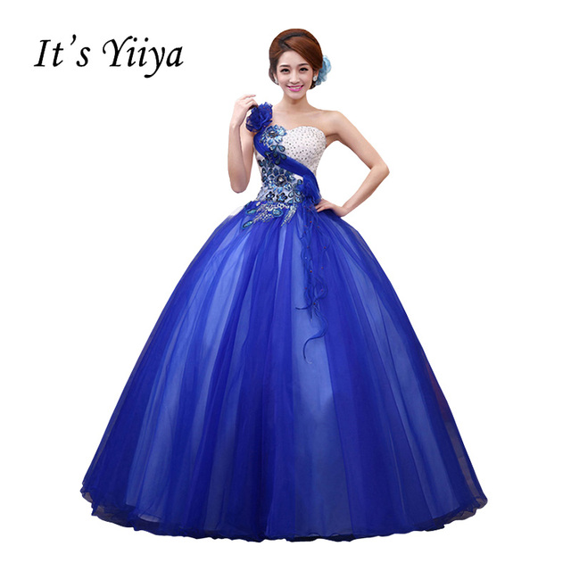 Vestido de Casamento Strapless Wedding Dresses Blue Pink Rose red ...