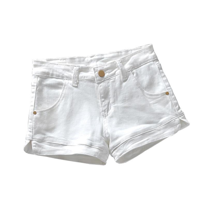 Plus Size 3xl White Denim Shorts Women 2018 Summer Stretch High