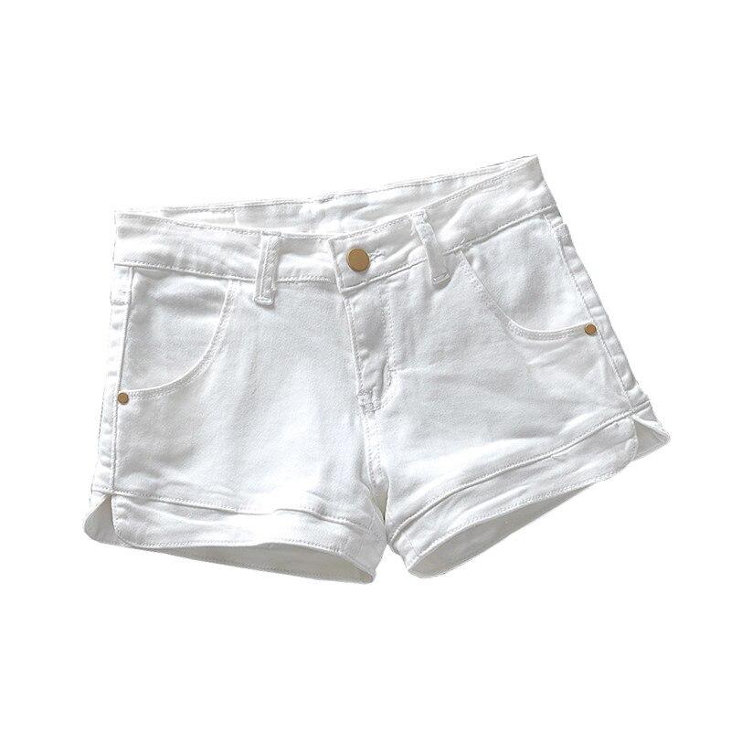 Plus Size 3XL White Denim Shorts Women 2019 Summer Stretch High Waist Short Jeans Sexy Short Femme Denim Trousers Women C4043
