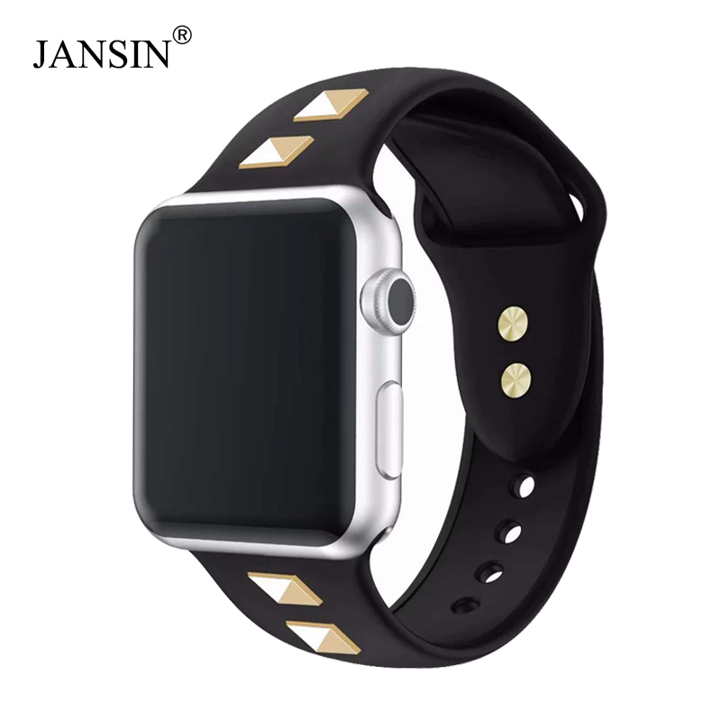 JANSIN Sport Loop Strap For Apple Watch 38mm 42mm 44mm 40mm Silicone Band Bracelet Watch Strap For IWatch Series 5/4/3/2/1