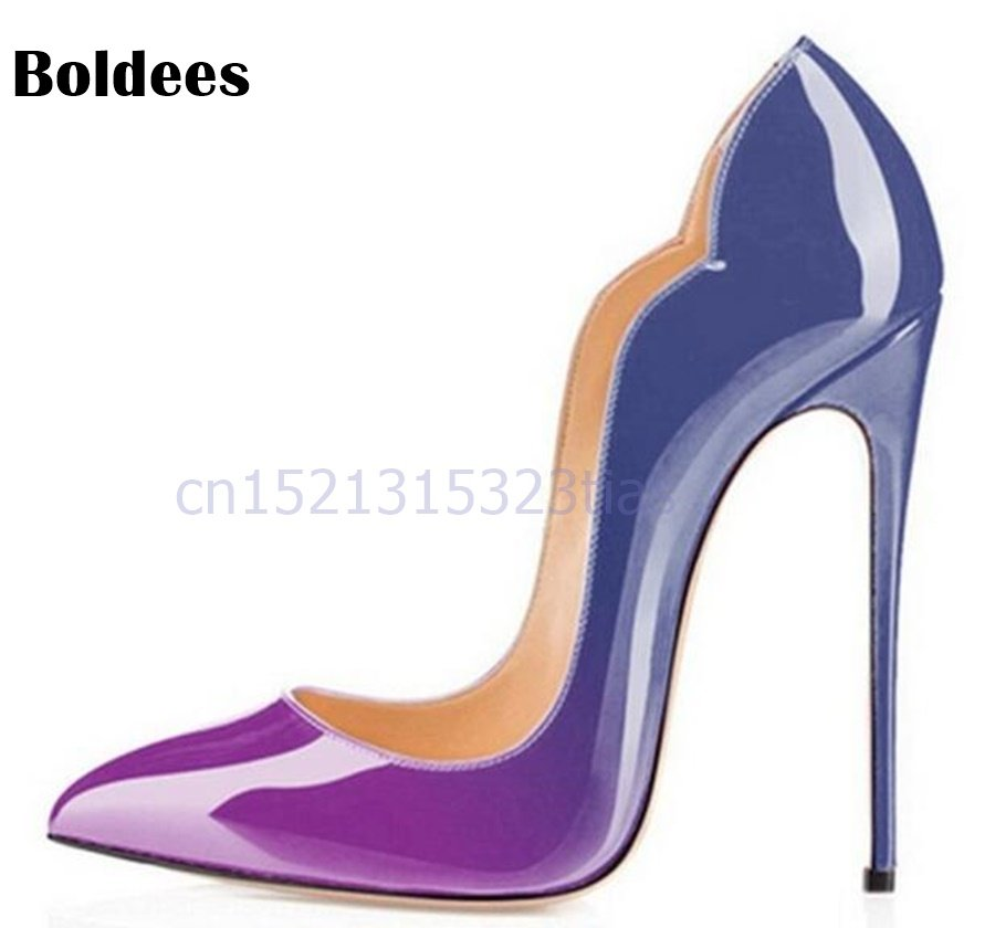 40a6955f5171 9 Colors Super Sexy Pointed Toe 12cm Thin High Heels Pumps Women Fashion  Party Shoes Woman