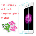 Free Shipping Hot !new arrive 0.26mm Premium Tempered Glass For iphone 7 Screen Protector with Clean Tools For iPhone 7 4.7 inch