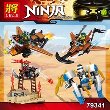 New LELE technic 4 in 1 New Ninja blocks Model Building Blocks Educational Toys for children Ninja series 61pcs