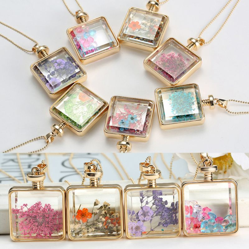 10Pcs Pressed Flower Blank Frame Pendant Hollow Open Bezel Charms Jewelry Making