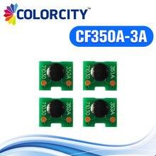 3 компл. CF350A CF351A CF352A CF353A тонер-картридж чип для hp laserJet 130A M176N M176 176N M177 M177FW 176 177 принтера