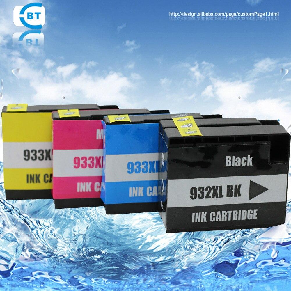 4 color 1 set compatibile hp cartuccia di inchiostro hp932xl 933xl per  officejet 6100 6600 6700 7110 7610 7612 7510 7512 stampante 434ab8b7f8e0