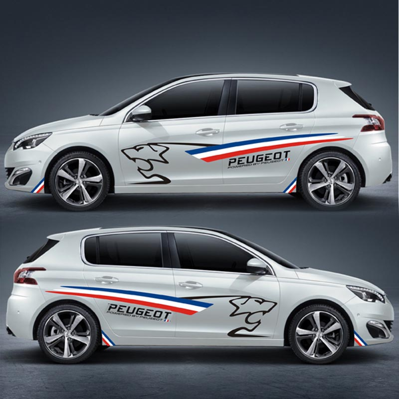 TAIYAO Car Styling Sport Car Sticker Car Accessories For PEUGEOT 308S Both Side Sticker Car-styling