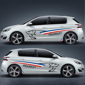 TAIYAO car styling sport car sticker car accessories for PEUGEOT 308S Both Side Sticker Car-styling taiyao car styling sport car sticker for toyota 2013 2018 rav4 hybrid sapphire car accessories and decals auto sticker