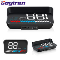 3.5'' Universal Head up Display General Car Display HUD Auto Electronic Voltage Alarm Vehicle Digital Projector Display M7