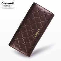 2017 New 100 Genuine Leather Cowhide Women S Wallets Cow Leather Long Ladies Wallets Clutch Design
