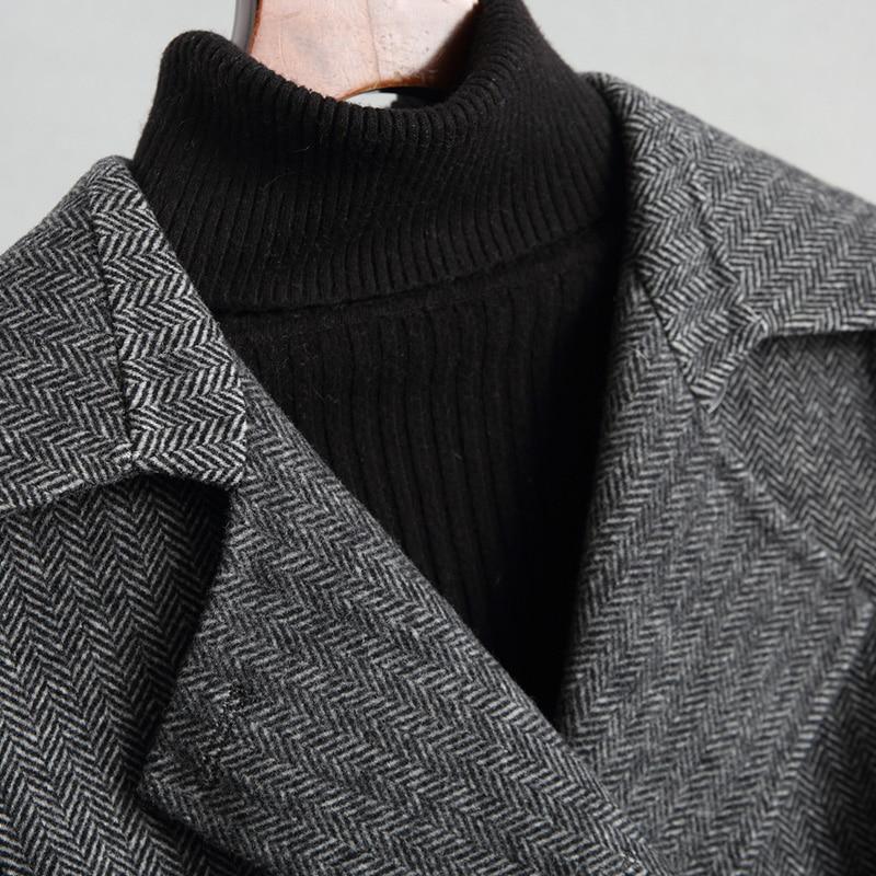 Femme Noir Mode Blend Nouveau Manteau Double Avec Z324 Hiver Veste Femmes Lainages face Ceinture Long Automne Laine vwzAwqnxda