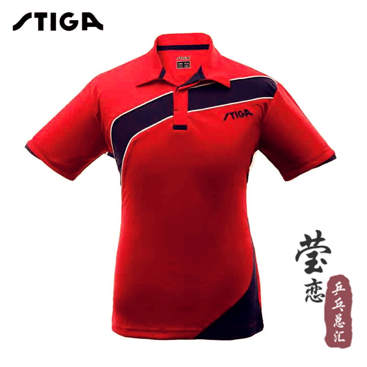 ФОТО original Stiga professional t-shirts table tennis ball competition clothing short-sleeve top new style for table tennis rackets