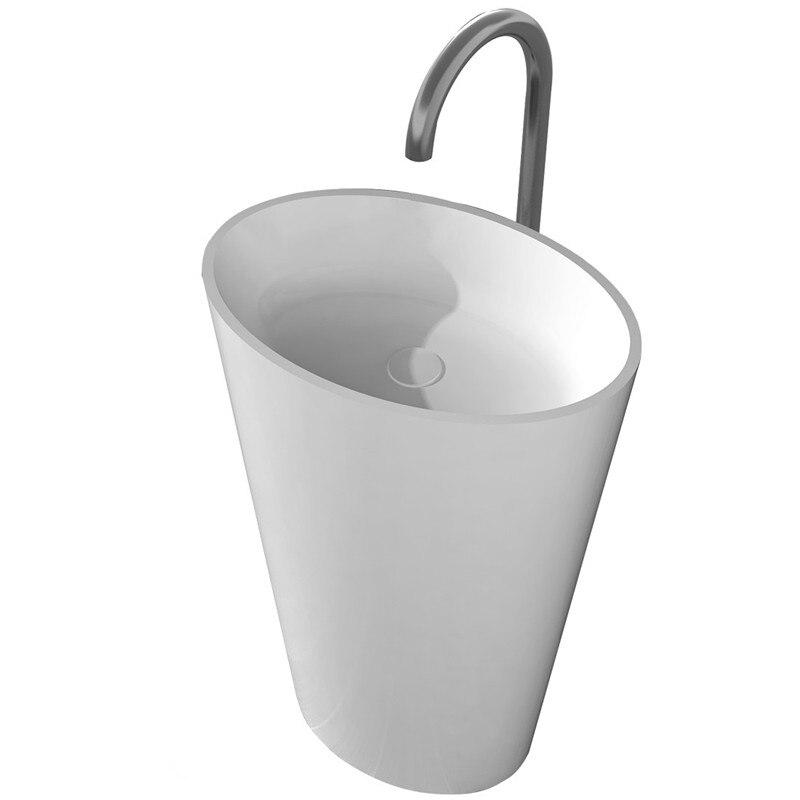 BATHROOM VANITY PEDESTAL HAND SINK CLOAROOM RESIN ACRYLIC COLORED WASH PEDESTAL BASIN RS38281-2