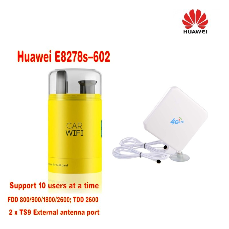 HUAWEI E8278s-602 4G LTE WINGLE WITH Car charger+4G TS9 35dbi antenna