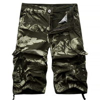 Men S Cargo Shorts 2017 Hot Selling Cotton Camouflage Army Tactical Military Shorts Mid Waist Fashion