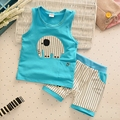 Summer Baby Boys Girls Clothing Set Sleeveless Vest + Striped Shorts Casual Children Boy Clothes Toddler Set