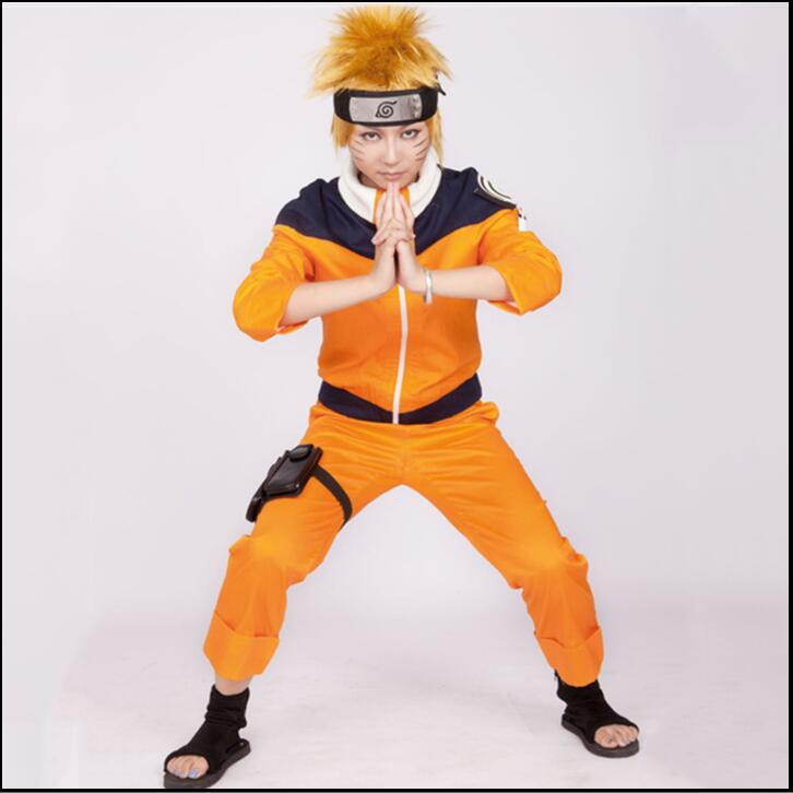 Anime Cos NARUTO Uzumaki Naruto Cosplay Anime Costume For Boys Girls Show Suits Japanese Cartoon Costumes top+pants