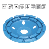125mm 5 Diamond 2 Row Segment Grinding Wheel Sanding Disc Abrasive Tools Sander Grinder Cup 22mm