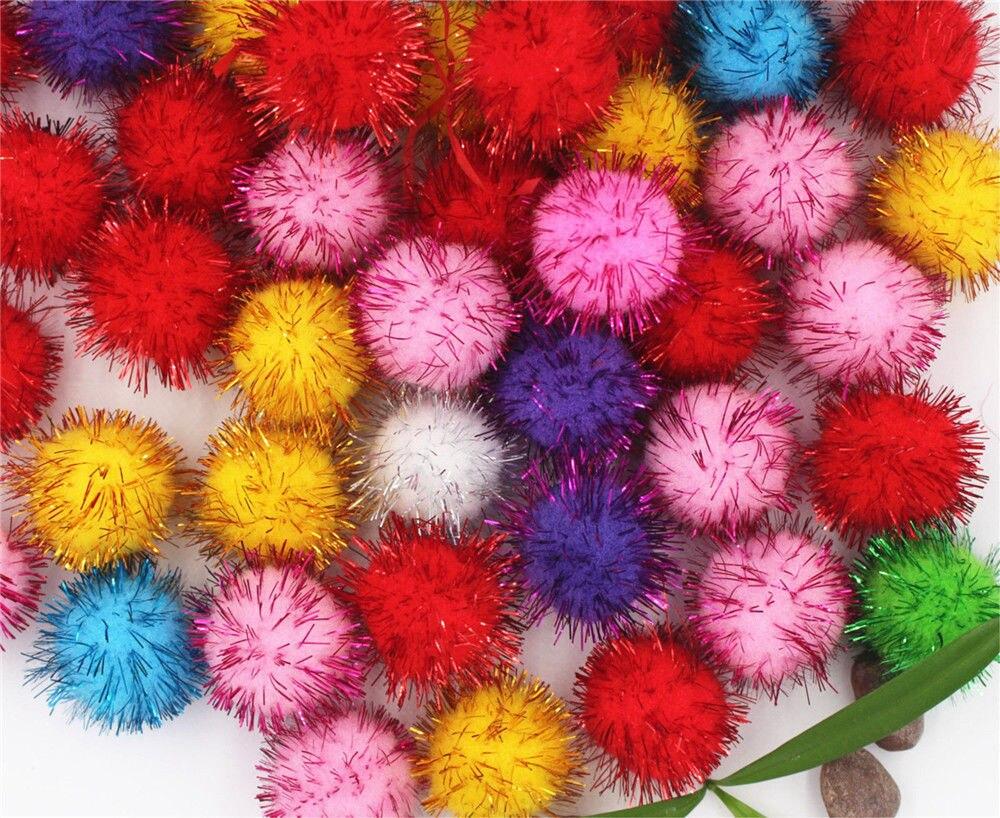 Около 10 мм шт. 100 многоцветные помпоны мягкие помпоны шары DIY ремесло Домашний сад и Свадебные украшения и Швейные аксессуары инструменты