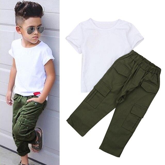 fa97fec2caaac 2018 Children Clothing Set Baby Boys Sets Children's Kids Autumn Boys  Outfit Sports Suit Set 3-7T Boys Set Child Suit Clothes