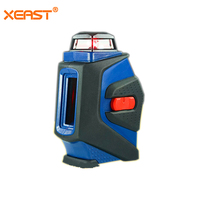 Xeast 5 Lines Laser Level 2D Automatic Self Leveling Horizontal Vertical Line 360 Degrees Mini Portable