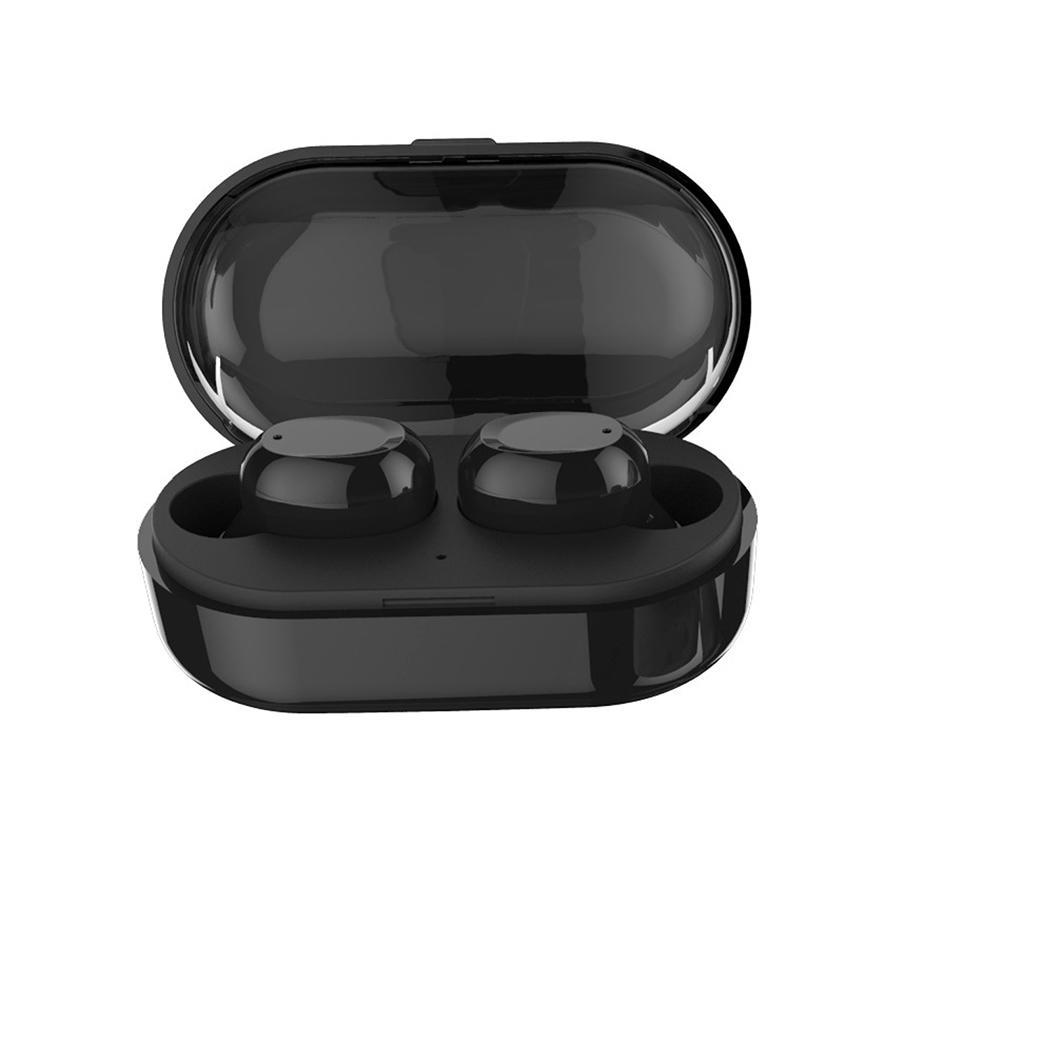 Waterproof Tws Bluetooth Earphones Headset Mini Wireless Earbuds Sport Handsfree Earphone Cordless Headset with Charging Box