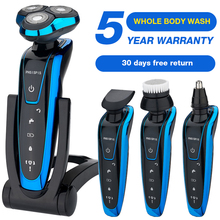 Men's Electric Shaver Whole Body Wash Electric Razor Rechargeable body shaving machine waterproof beard shaver cleaning