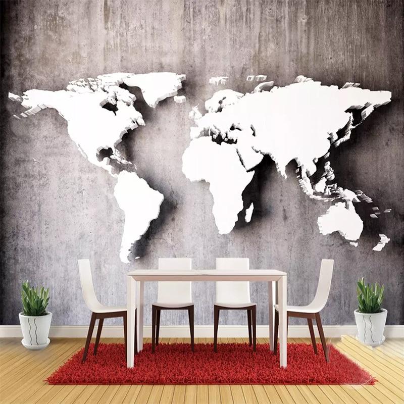 Custom Photo Wallpaper Modern Fashion Wall 3D World Map Mural Living Room Bedroom Wall Decoration Wallpaper Papel De Parede 3D