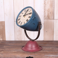 American watches clock creative clock table clock timepiece vintage clothing store window decoration bell ornaments sit bell