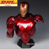 Avengers Infinity War Statue Superhero Bust Iron Man Half Length Photo Or Portrait With LED Light MK6 1:2 Action Figure Toy J400