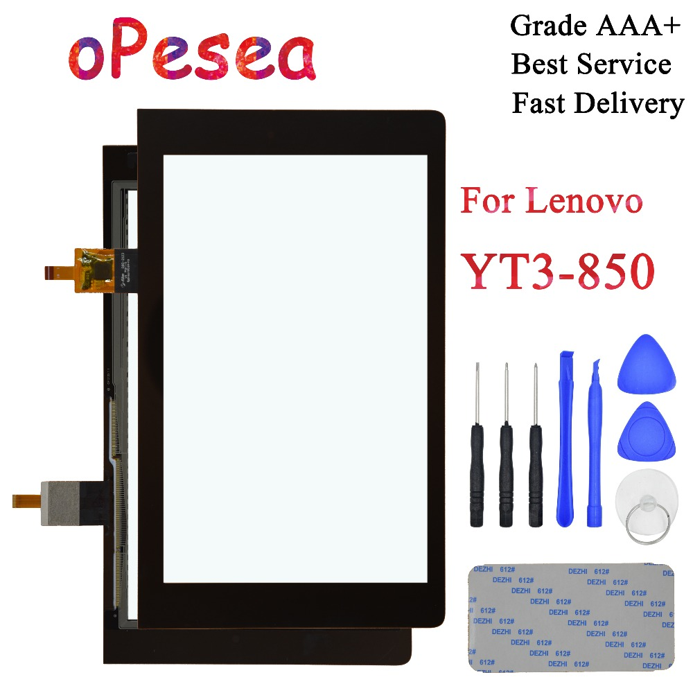 OPesea For Lenovo Yoga Tab 3 8.0 YT3-850 YT3-850M YT3-850F YT3-850L Touch Screen Digitizer Front Panel Sensor Glass Replacement