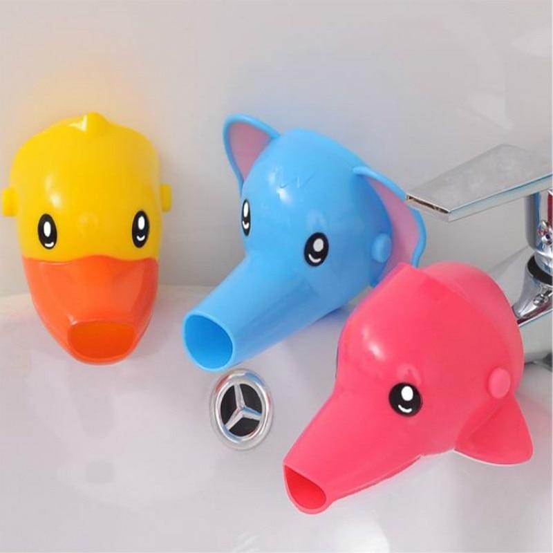 Bad & Dusche Produkt 1 Pc Freies Verschiffen Glücklich Spaß Tiere Wasserhahn Extender Baby Wannen Kinder Hand Waschen Waschbecken Geschenk Mode Und Bequem Mutter & Kinder