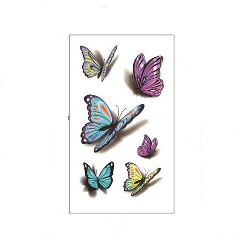 Bittb 3 Unids 3D Mariposa Impermeable Tatuaje Temporal Body Art Sticker Tatuajes