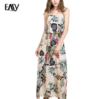 Womens Dress Elegant Vintage Summer Casual Dress Simplee Ruffle Cold Shoulder Leaves Printed Summer Dress Fashion