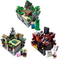 400 Pcs Micro My World Building Blocks DIY Nether Bricks Blocks EnlightenToys For Kids Compatible LegoINGLY