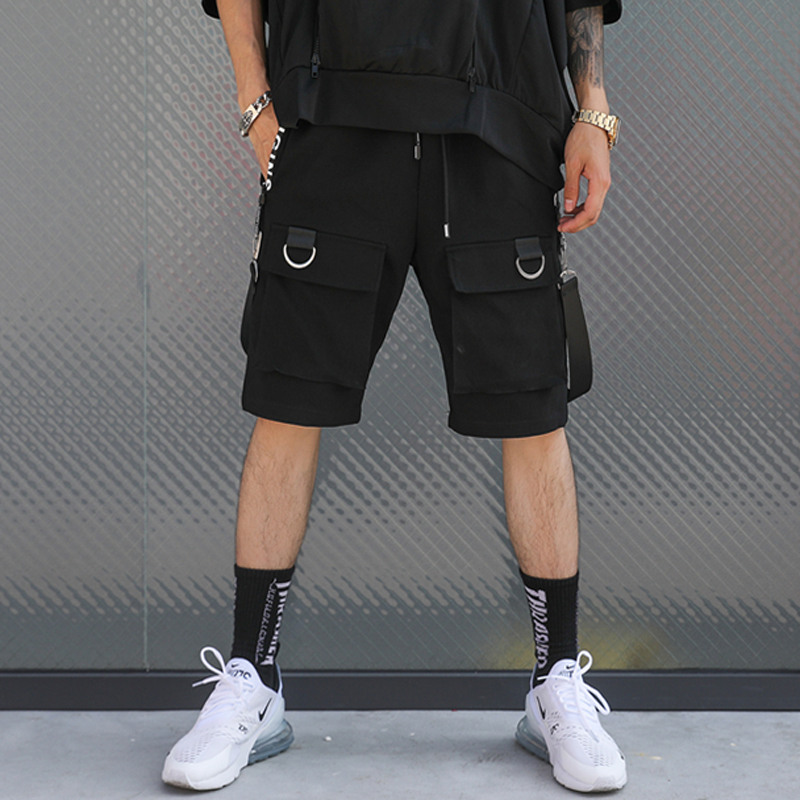 April Momo 2019 Men Summer Knee Length Hip Pop Shorts Trousers Streetwear Male Casual Fashion Loose Style Sportswear Shorts Men Bright And Translucent In Appearance