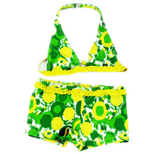 цена на 2016 Girls Swimwear Two Pieces Swimsuit for Girls Kids bikini biquini infantil baby girl bathing suit Children swim suit 6-16T