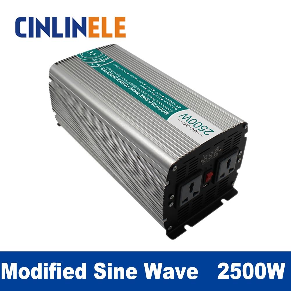 Modified Sine Wave Inverter 2500W CLM2500A DC 12V 24V 48V to AC 110V 220V 2500W Surge Power 5000W Power Inverter 48V 110V pure sine wave inverter 5000w clp5000a dc 12v 24v 48v to ac 110v 220v 5000w surge power 10000w