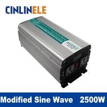 Modifizierten Sinus-wechselrichter 2500 Watt CLM2500A DC 12 V 24 V 48 V zu AC 110 V 220 V 2500 Watt Spitzenleistung 5000 Watt Wechselrichter 48 V 110 V
