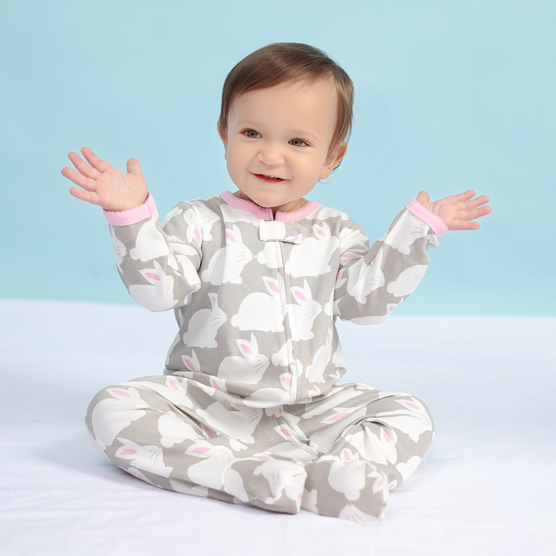 Brand orangemom official store baby   romper   cartoon rabbit jumpsuits cotton newborn baby girl clothes Pajamas for babies