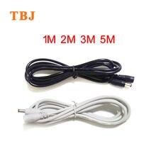 1M 2M 3M 5M 18AWG 22AWG Schwarz Weiß 5,5 mmx 2,1mm Weiblichen zu Männlichen DC power stecker Adapter verlängerung draht Kabel